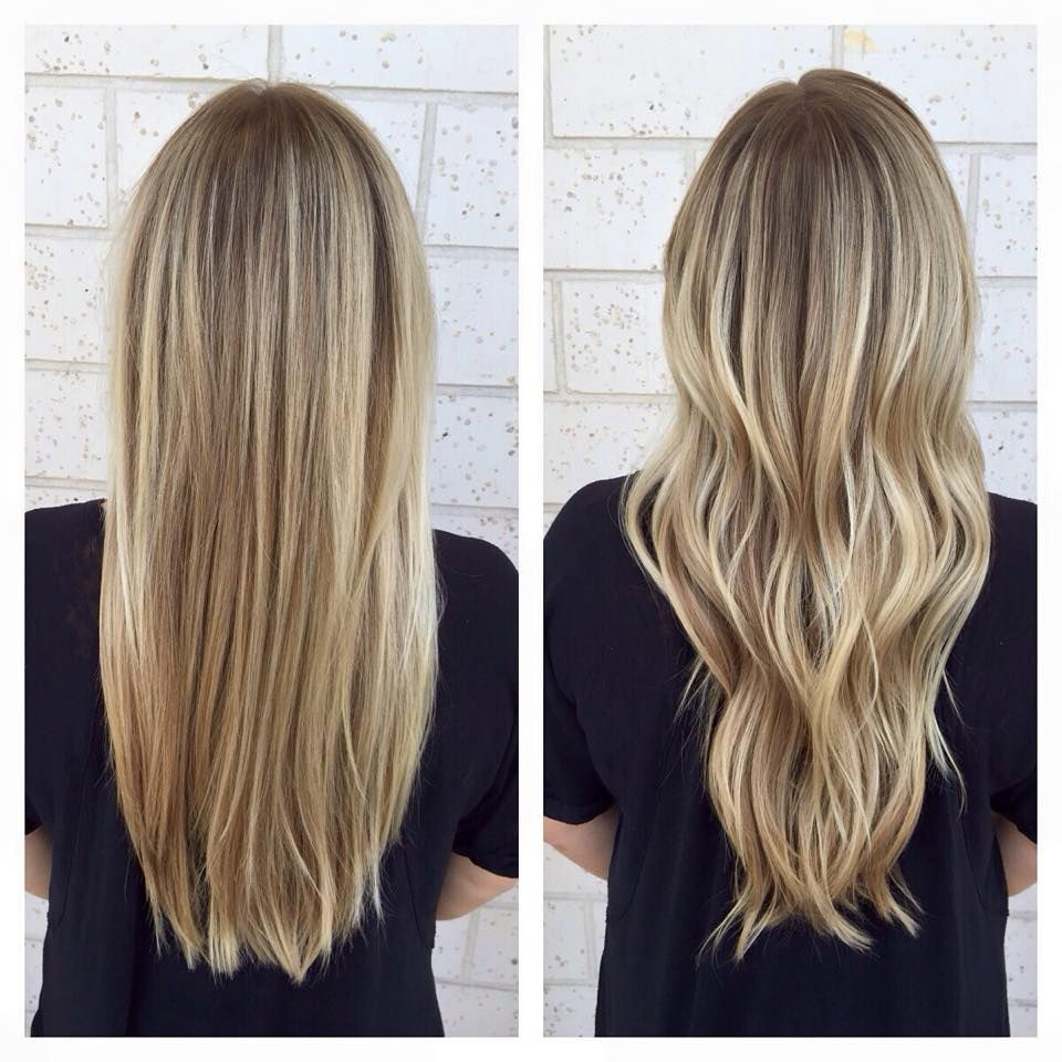 Bright Blonde Balayage Straight Or Curly Jacksonville Beach Fl