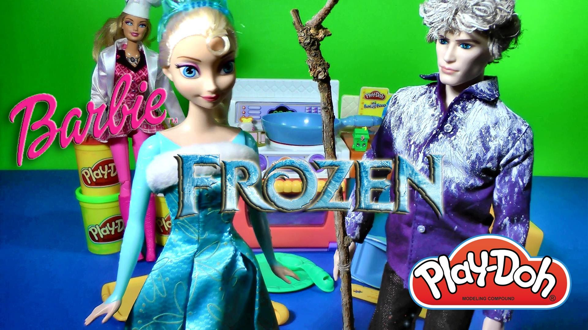 Play Doh Meal Makin Kitchen Playset JELSA LOVE STORY Elsa and Jack ...