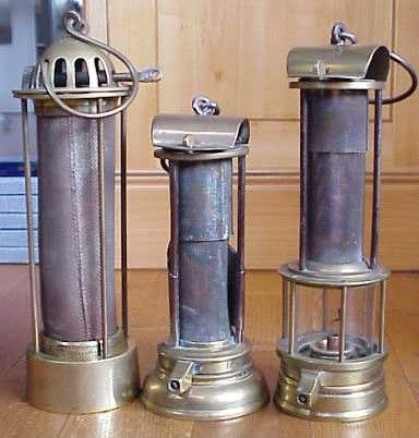 Old Davy Mining Lamp Industrial Revolution Lamp Inventions