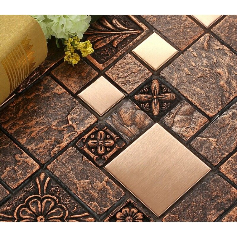 Wholesale Porcelain Tiles Square Mosaic Tile Designs Stainless Steel