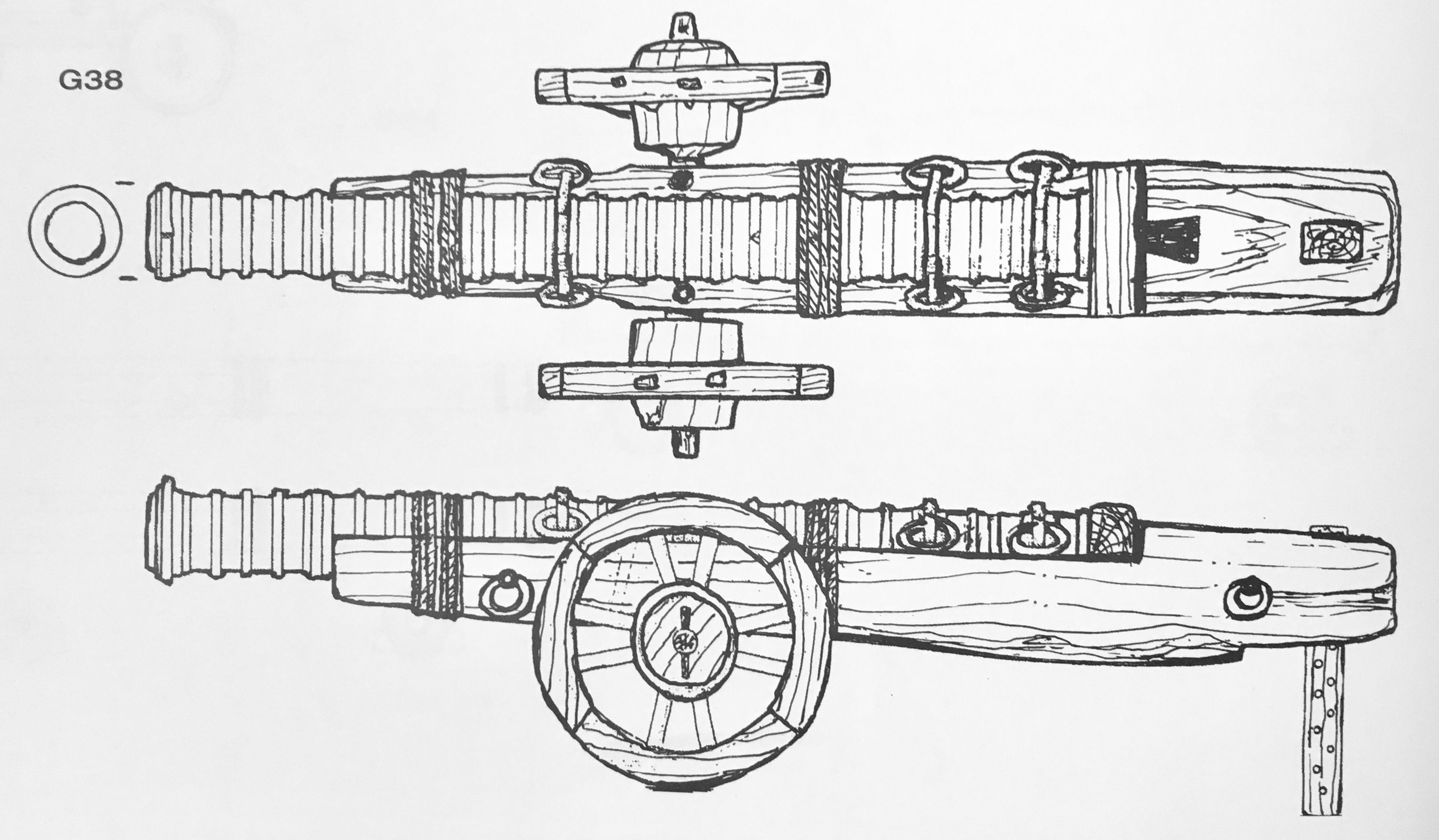 Drawing of port piece, ordnance/gun from Anatomy of Mary Rose | Mary ...