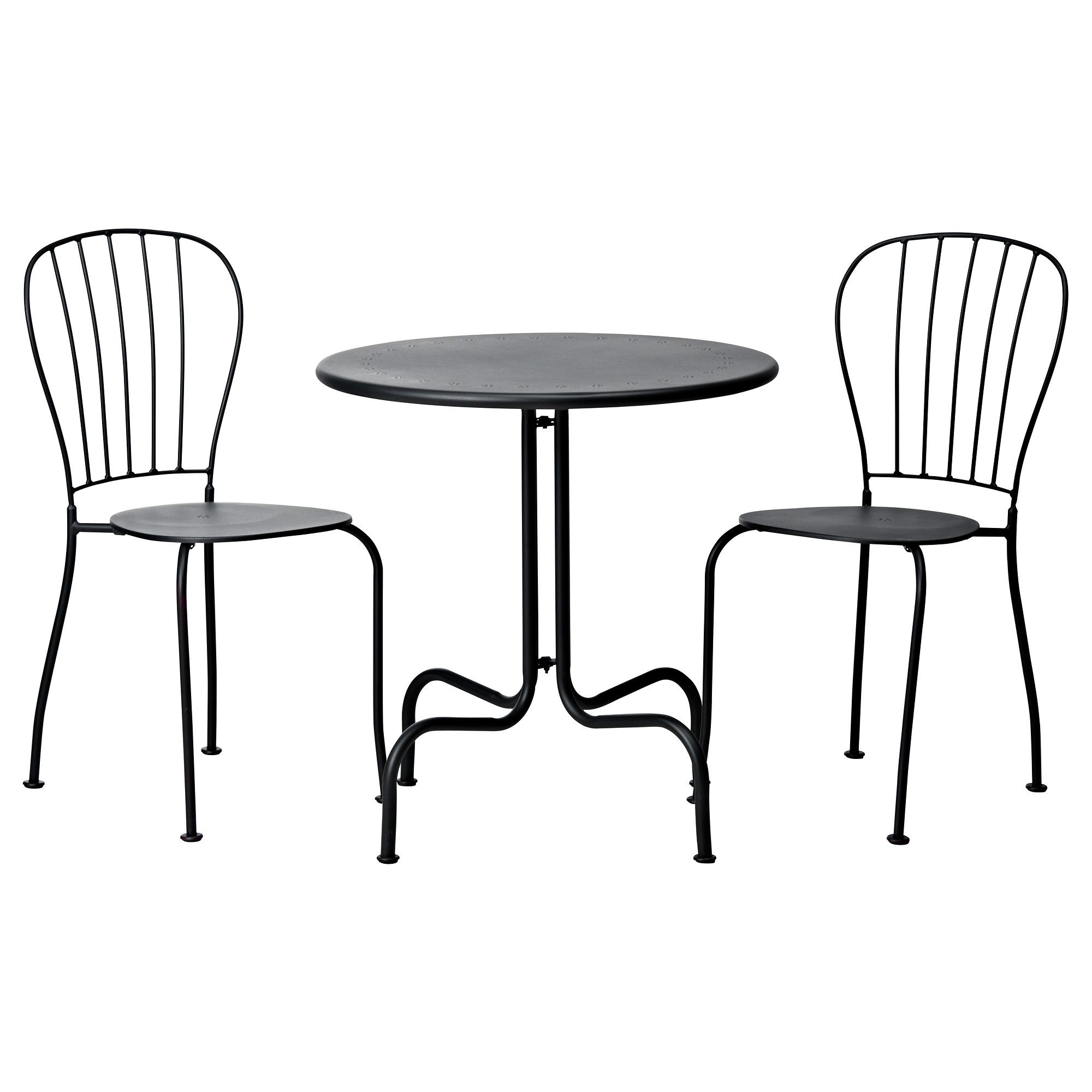 Resistant rattan effect outdoor patio dining set with round table - L Ck Bistro Set Gray Ikea For Front Porch Could Spray Paint Any Color