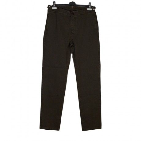 """Washed cotton whipcord """"Sam"""" trousers, Chocolate brown 