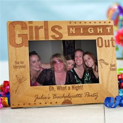 Girls Night Out Personalized Wood Picture Frame Engagement Party