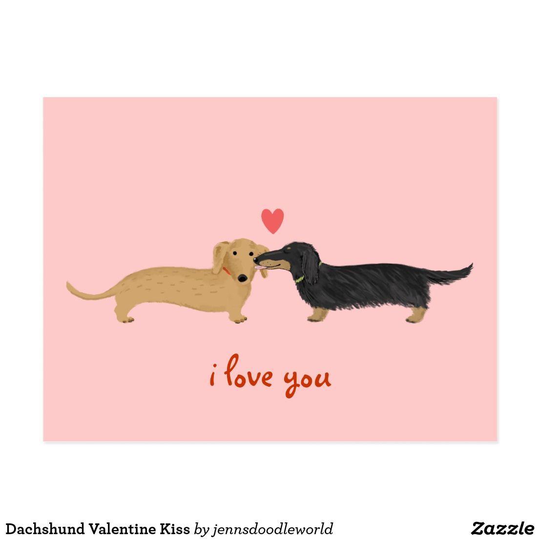 Dachshund Valentine Kis dachshund Valentine Kiss