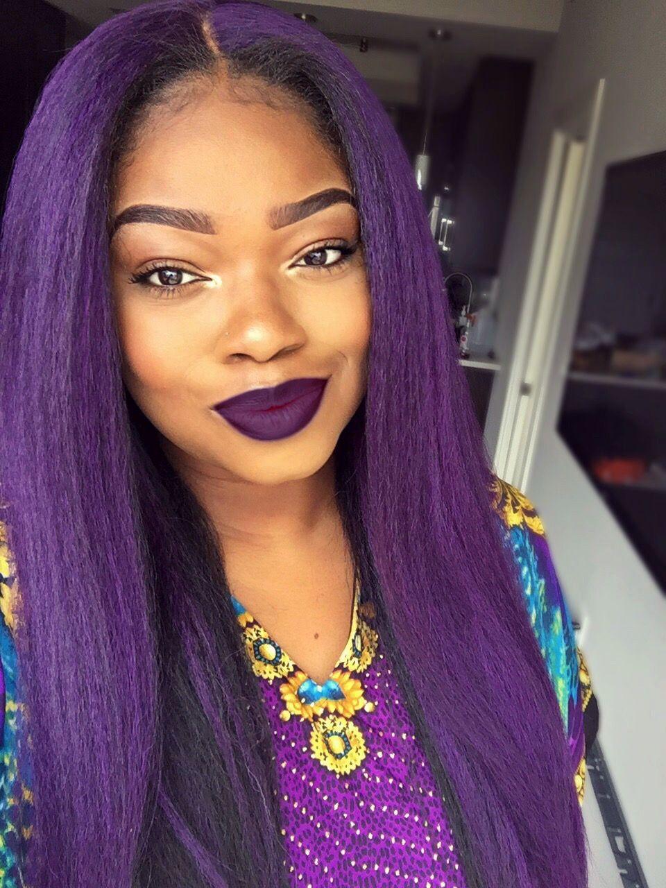 Purple hair purple hair and purple lipstick mypurplehairaddiction
