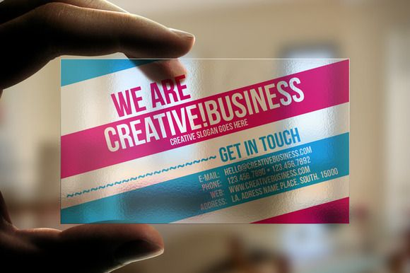 Transparent plastic business card business card templates on transparent plastic business card business card templates on creative market fbccfo Images