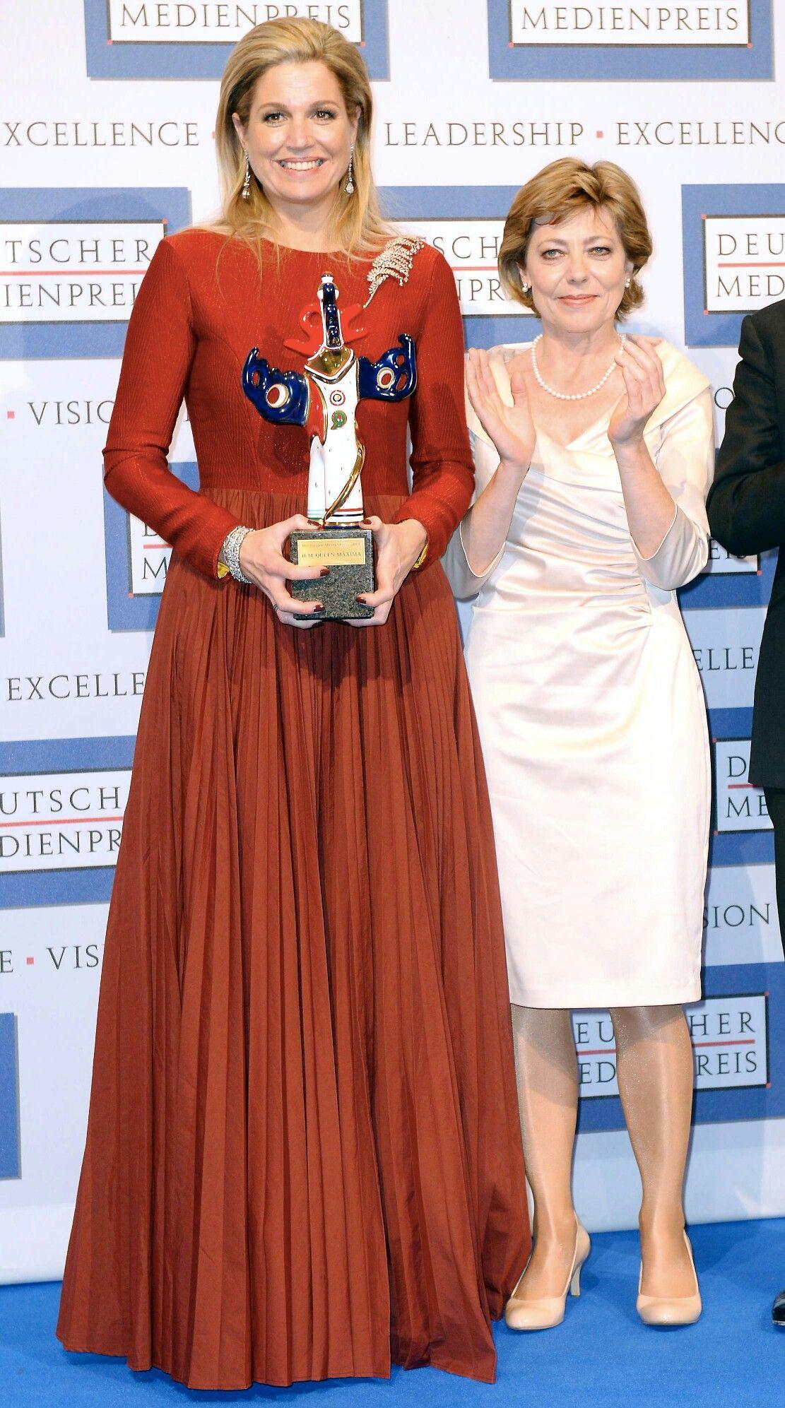 21 March 2014 - King Willem Alexander and Queen Maxima attend Deutscher Medienpreis in Germany