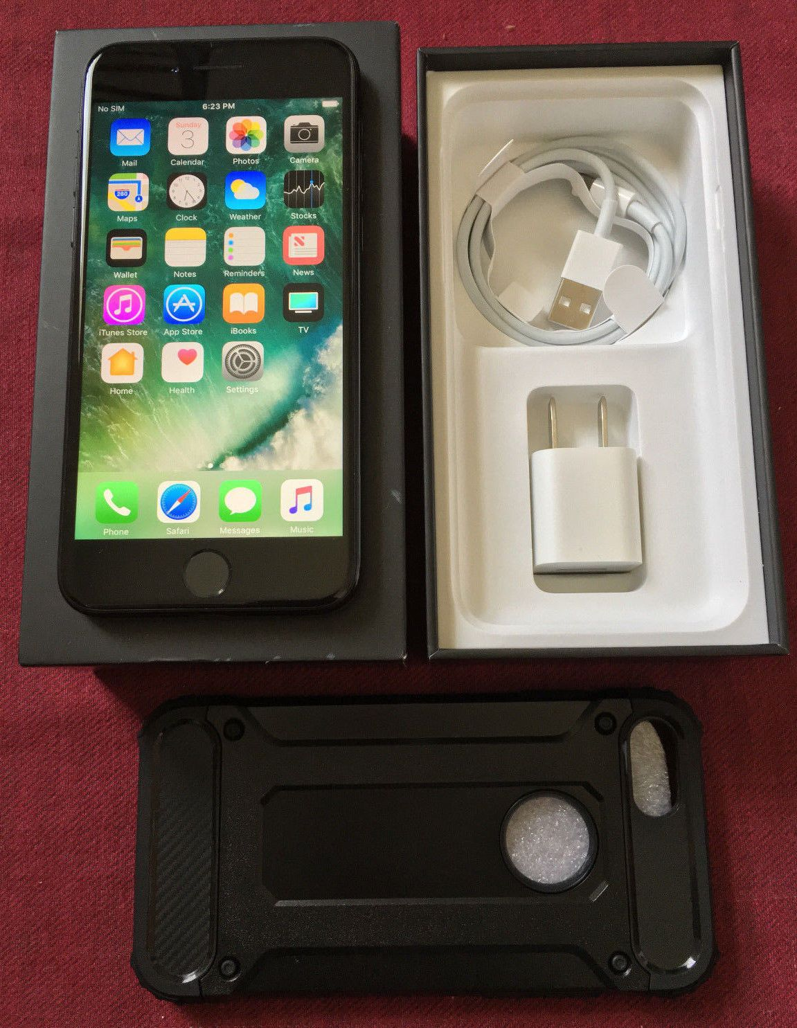 Mint Apple Iphone 7 128gb Jet Blackfactory Unlocked 47 12mp Black Gsm Smartphone Ebay Link