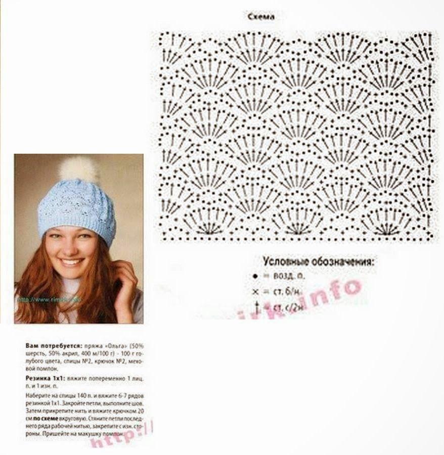 Patrón #407: Gorro a Crochet ~ CTejidas [Crochet y Dos Agujas ...