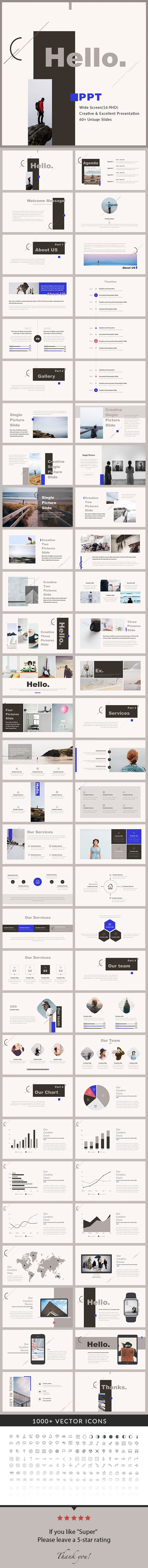 Hello - PowerPoint Presentation Template - Creative PowerPoint Templates