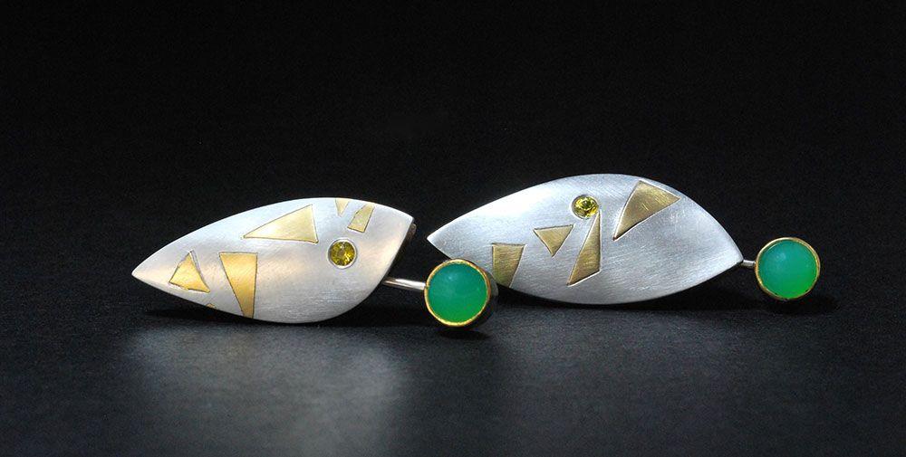 Tim Peel. Earrings: Dryads dance joyously amongst oak, Ash ...