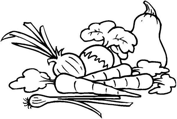 Vegetables Coloring Pages Free Printable Download Khaa \خ\ Is For Rhpinterest: Colouring Pages For Adults Vegetables At Baymontmadison.com