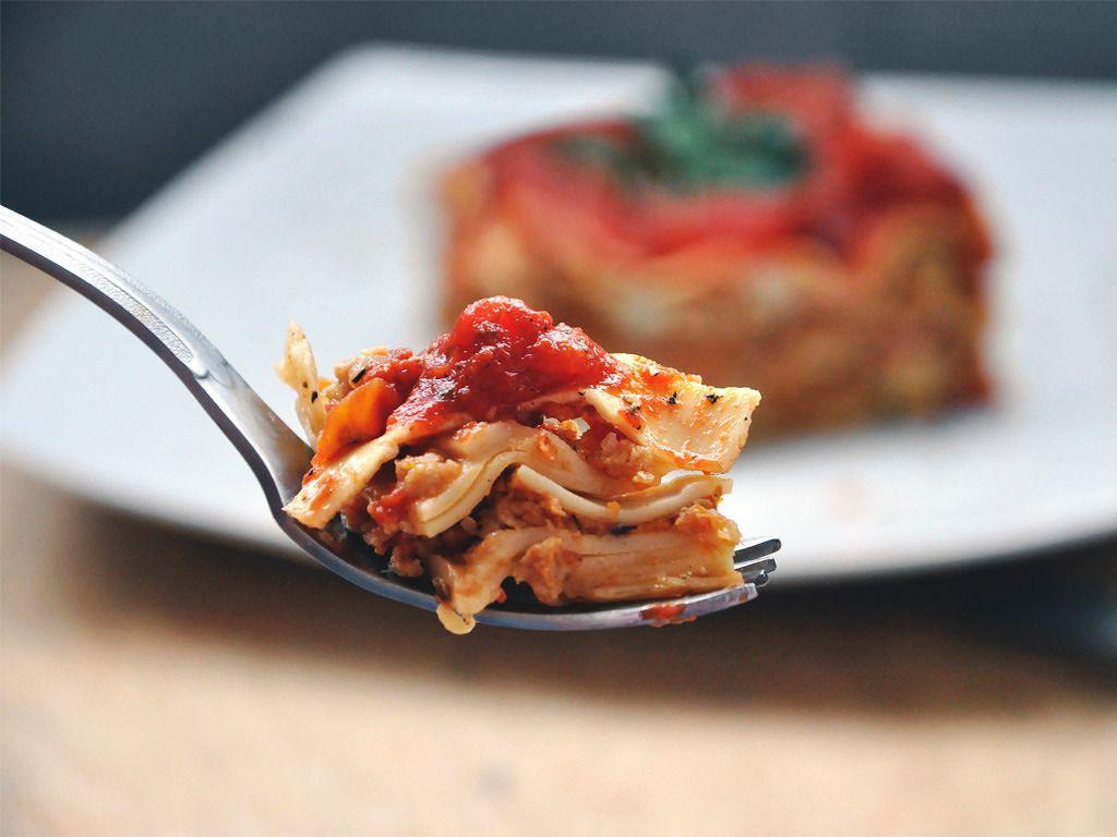 Vegan Whole Wheat Lasagna with Mushrooms