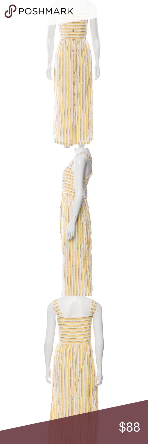Rachel Zoe Striped Yellow Button Front Maxi Dress Button Front Maxi Dress Rachel Zoe Dresses Dresses [ 1740 x 580 Pixel ]