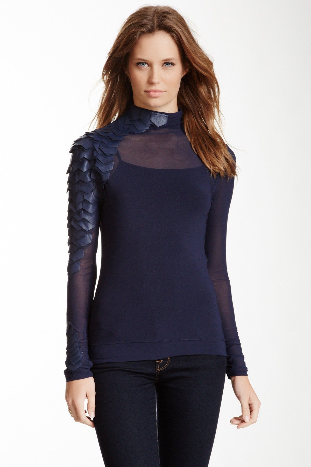Gracia Mesh Turtleneck Blouse on HauteLook. I'M SPEECHLESS!  And....IT'S BLUE!!!