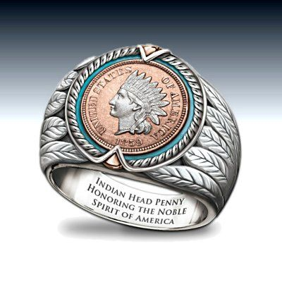 Indian Head Penny Ring Jewelry Men s Pride