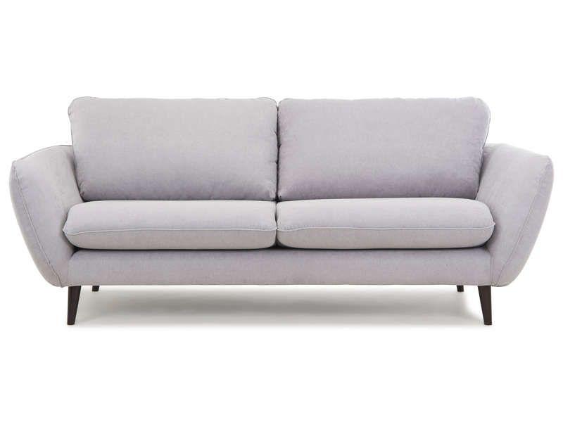 299f5f5657c Canapé droit fixe 3 places DELF 2 pas cher coloris gris prix promo Canapé  Conforama 749.00