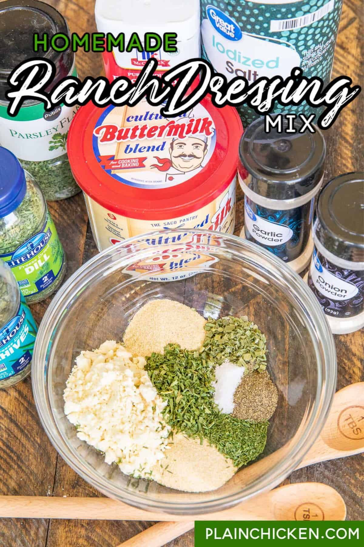Homemade Ranch Dressing Mix Ditch The Packets For An Easy Homemade Dressing Mix Without Al In 2020 Homemade Ranch Dressing Mix Homemade Ranch Homemade Ranch Dressing