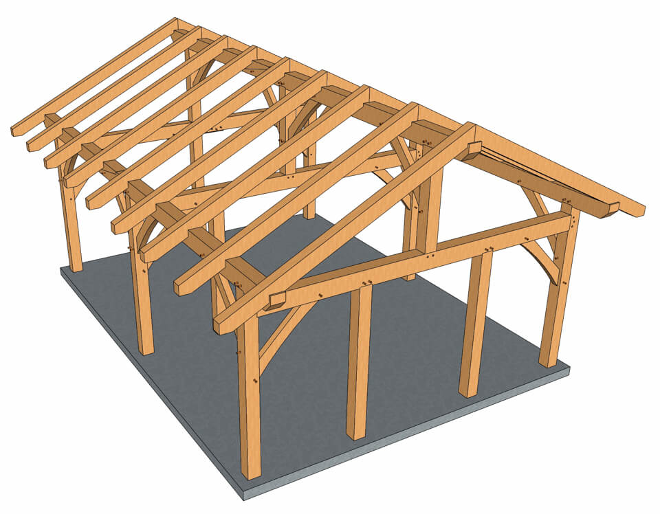 18x24 Timber Frame Pavilion Timber Frame Hq Timber Frame Pavilion Timber Frame Plans Timber Frame