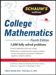Schaum S Outline Of College Mathematics Mathematics Calculus Thermodynamics