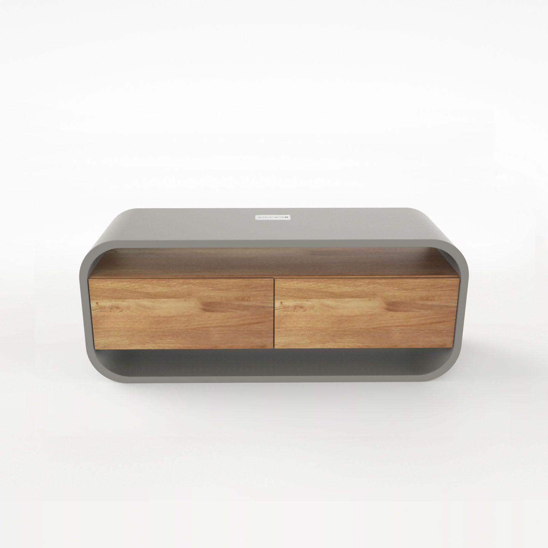Opus Videro Lignum Lowboard Tv Mit 2 Schubladen Aus Holz In 2019
