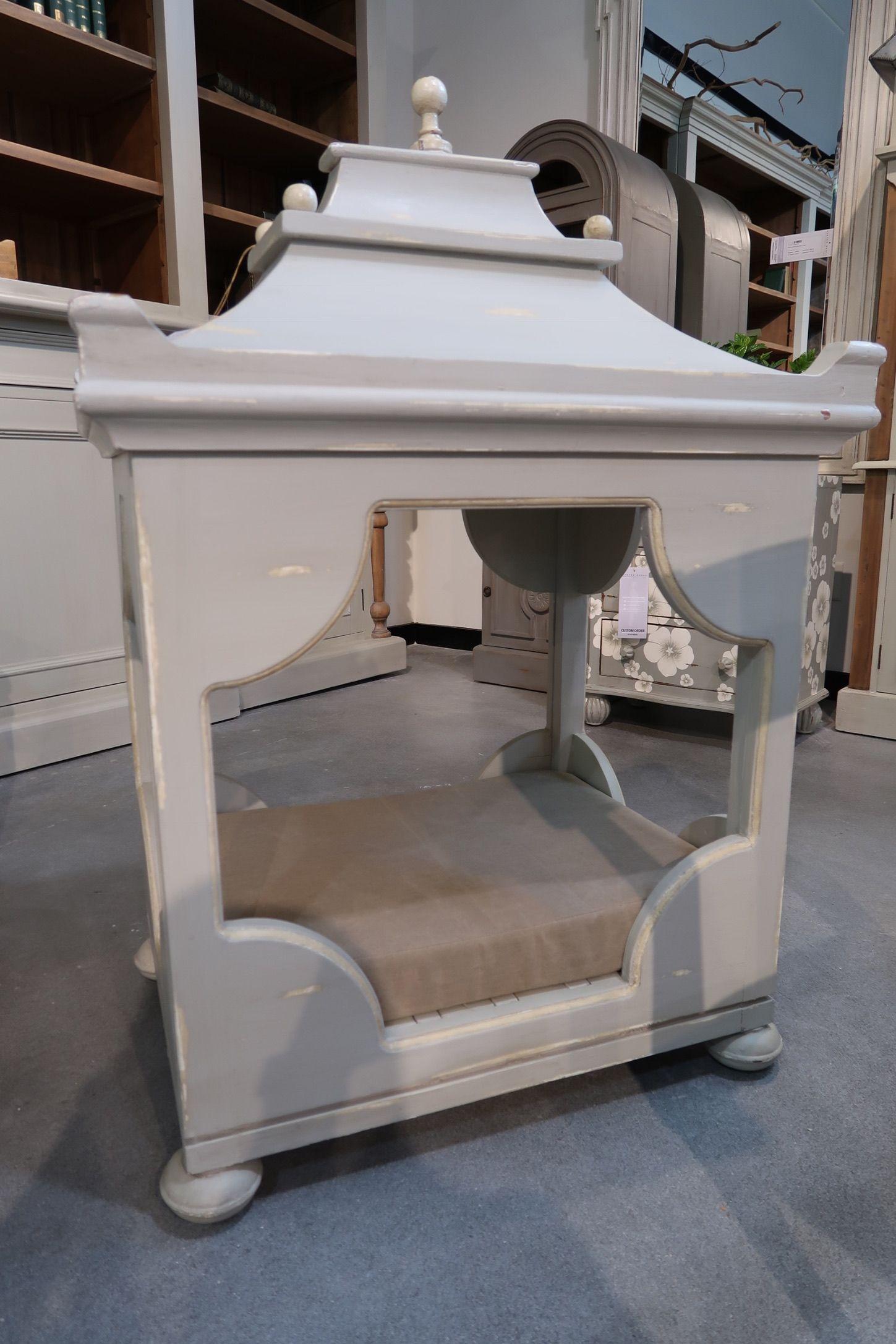 designer dog bed in gray at steven shell   high point  - designer dog bed in gray at steven shell