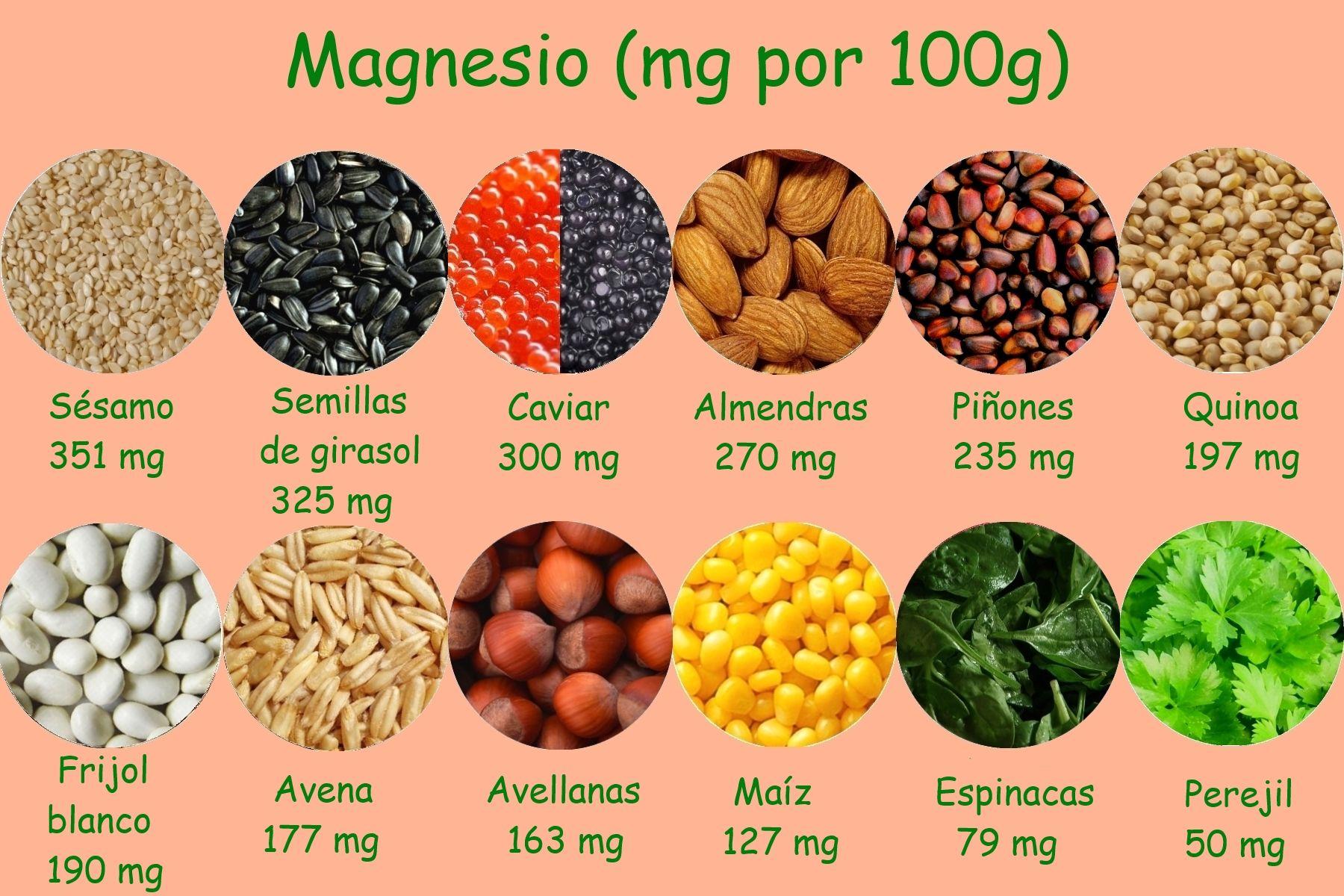 Alimentos ricos en magnesio alimentos y nutrientes pinterest el magnesio alimentos y salud - En que alimentos encontramos magnesio ...