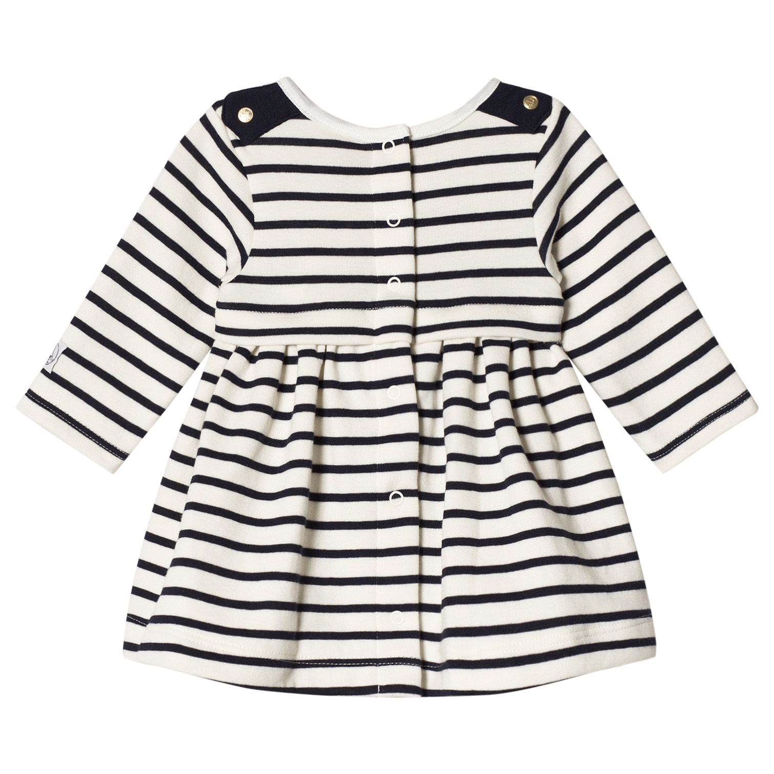 Navy and White Stripe Baby Dress