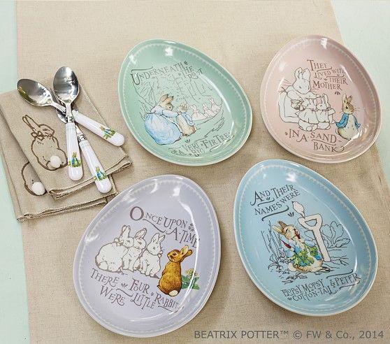 Peter Rabbit Easter Ceramic Plate Set Easter Table