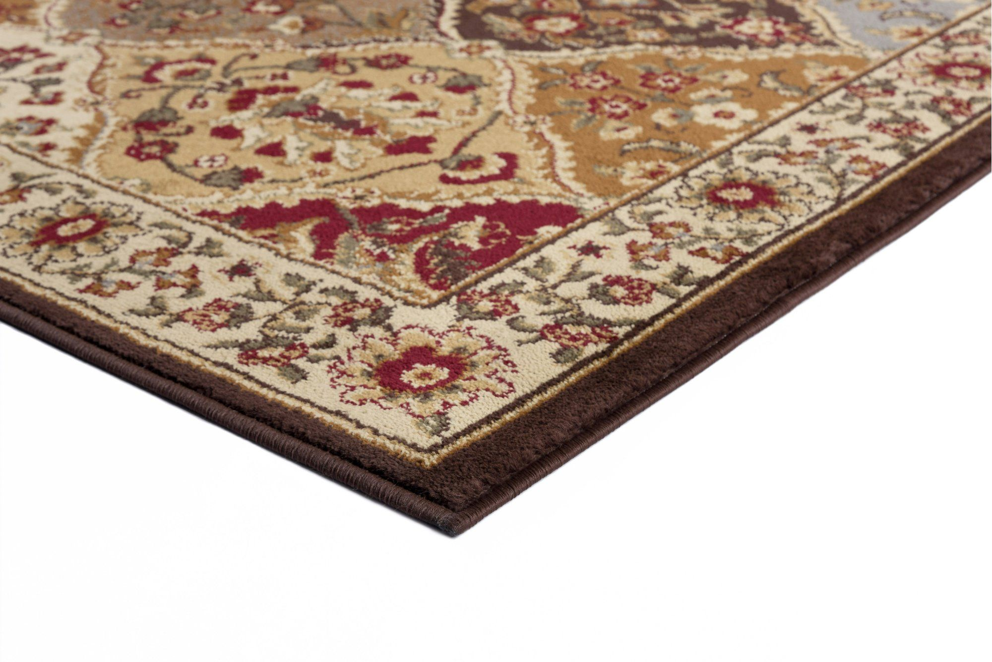 5 X 7 Medium Tan And Red Area Rug Elegance Area Rugs Rugs