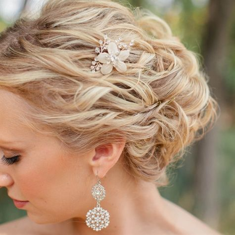 Messy waves wedding hair