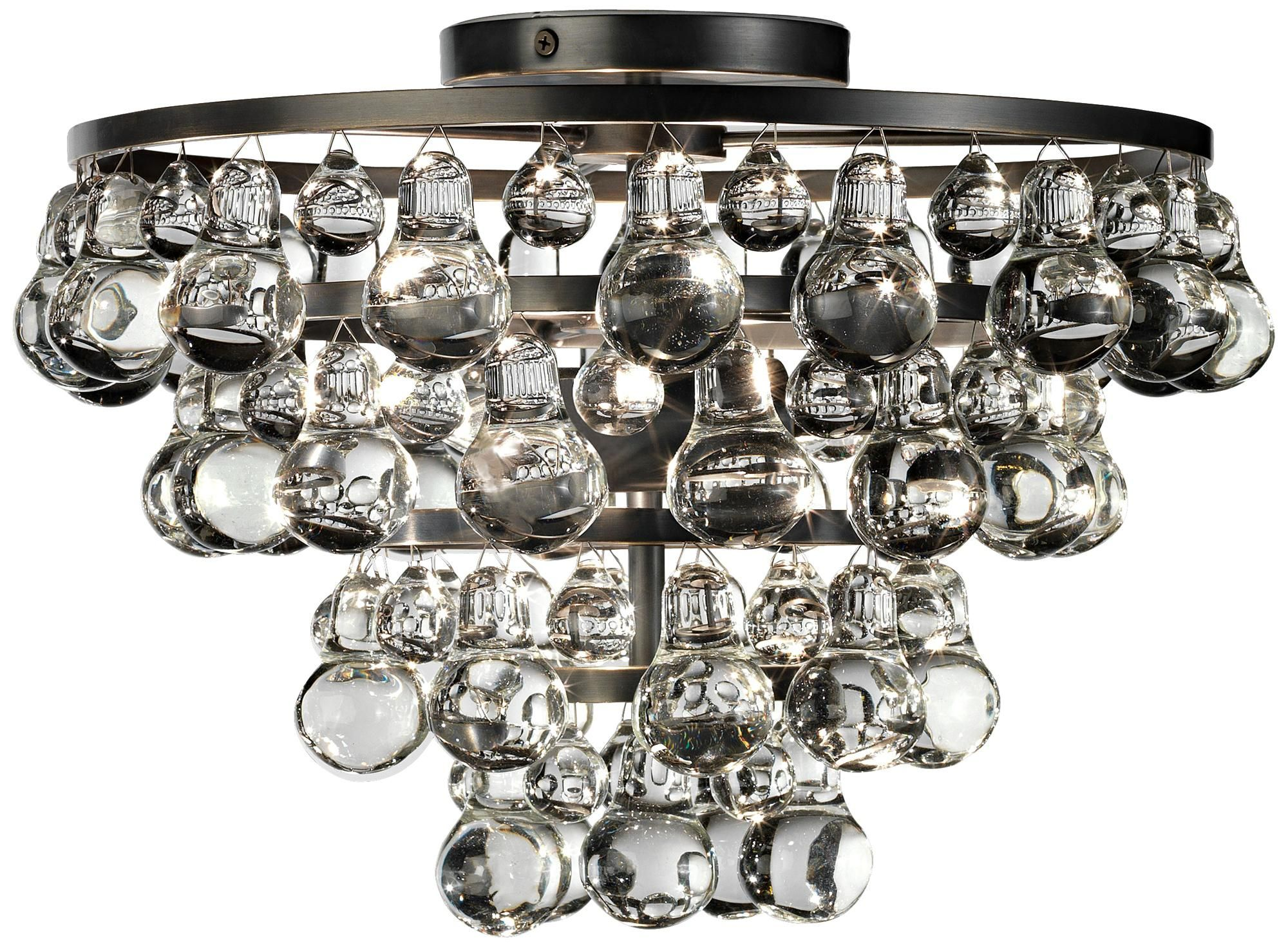 Bling Collection Patina Bronze Flushmount Ceiling Light K4686 Lamps Plus Robert Abbey Bling Bling Ceiling Lights