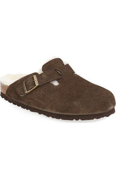 Birkenstock 'Boston' Genuine Shearling Lined Clog (Women) available at #Nordstrom $165