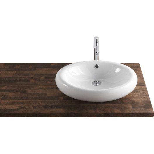 vasque poser oveo en c ramique x 42 cm salle de bains pinterest vasque salle de. Black Bedroom Furniture Sets. Home Design Ideas