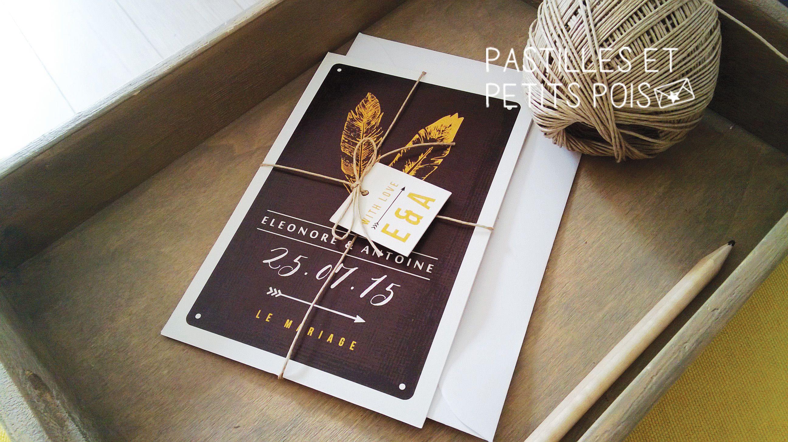 Mod¨le faire part de mariage vintage cartes et mini étiquette