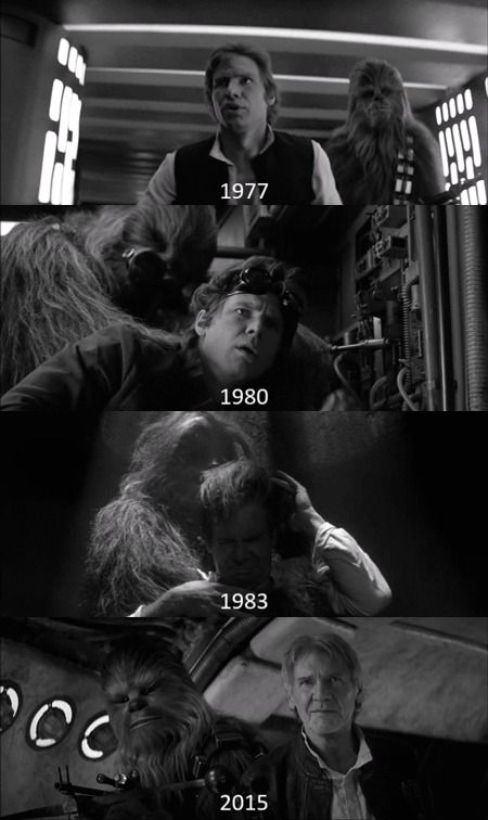 han solo through the years.