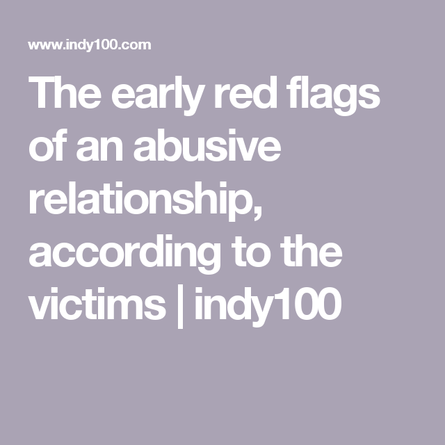 red flags of abusive relationship