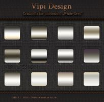 Gradients for photoshop - White-Grey by elixa-geg
