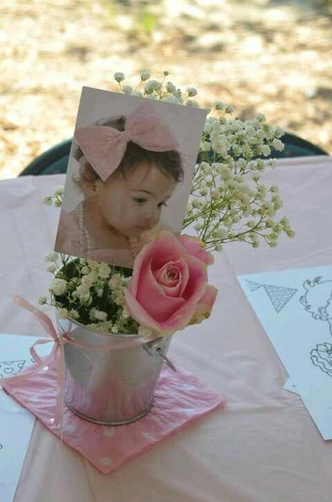 Centro mesa flor Y foto