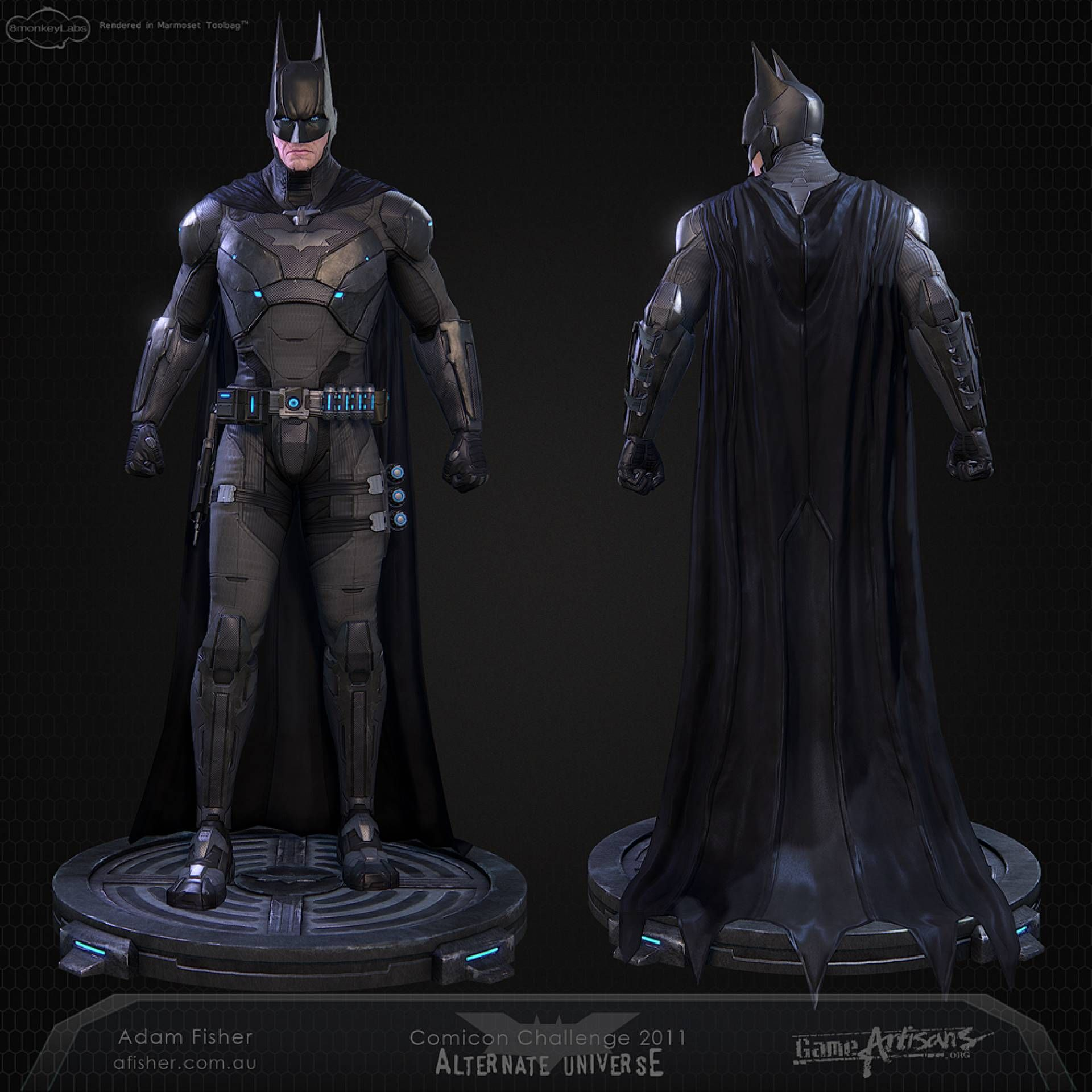 Batman Arkham Knight Batcave: Movie Reboot/Redesign/SupermanvsBatman Costume