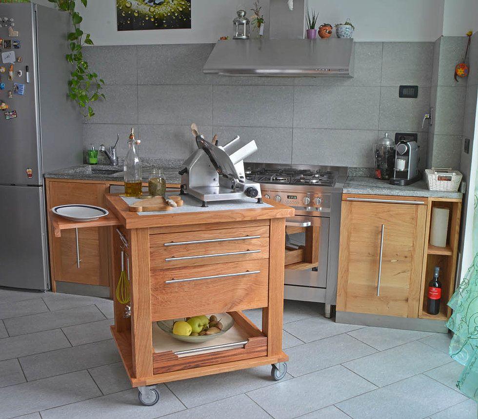 Carrello attrezzato per cucina dimensioni larghezza cm 77 - Larghezza cucina ...