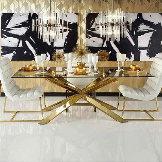Exciting Glass Top Dining Room Sets Design With Rectangle Glass Top Dining Table Mounted On Bla Glass Dining Room Table Dining Room Sets Glass Dining Room Sets