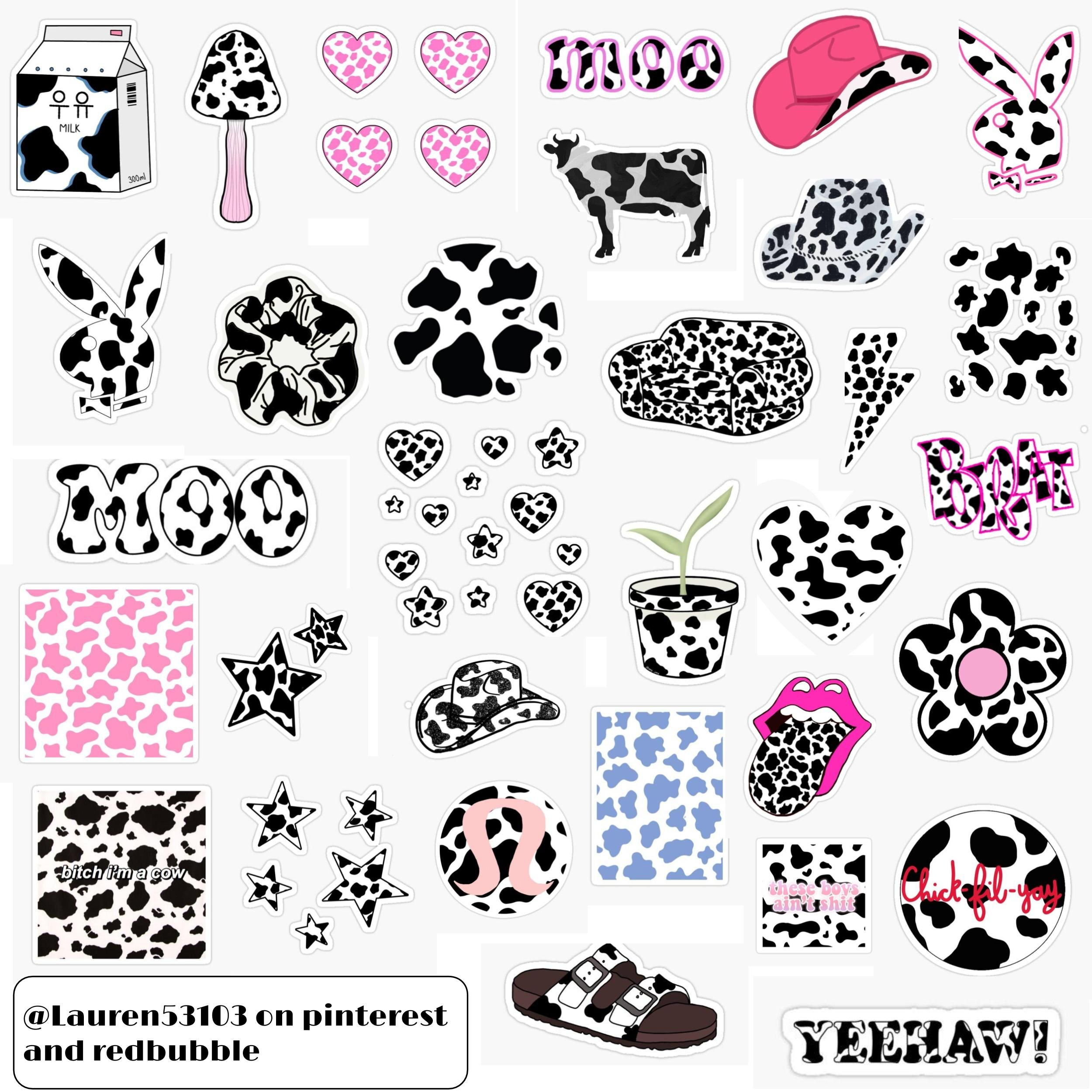 Aesthetic Cow Print Pink