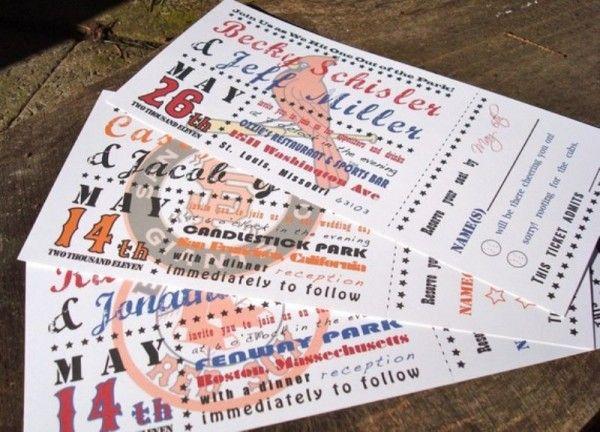 Ticket Invites2 Occasions Baseball Wedding Invitation Ticket Wedding Invitations Baseball Wedding