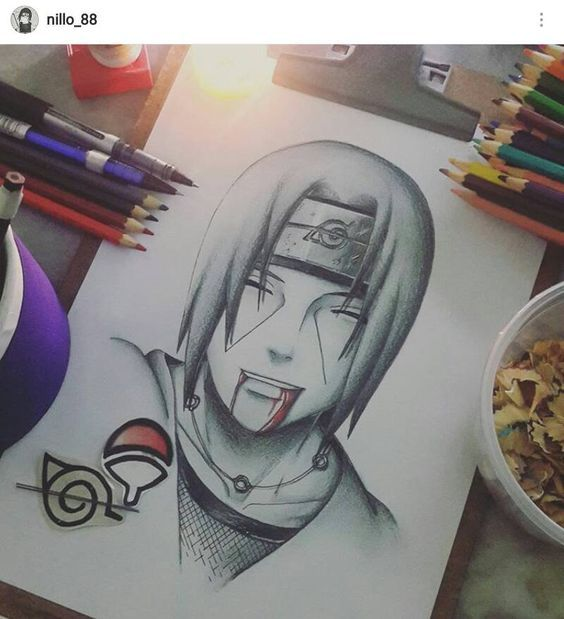 Itachi Uchiha Pencil Drawing Picture With Images Itachi Uchiha
