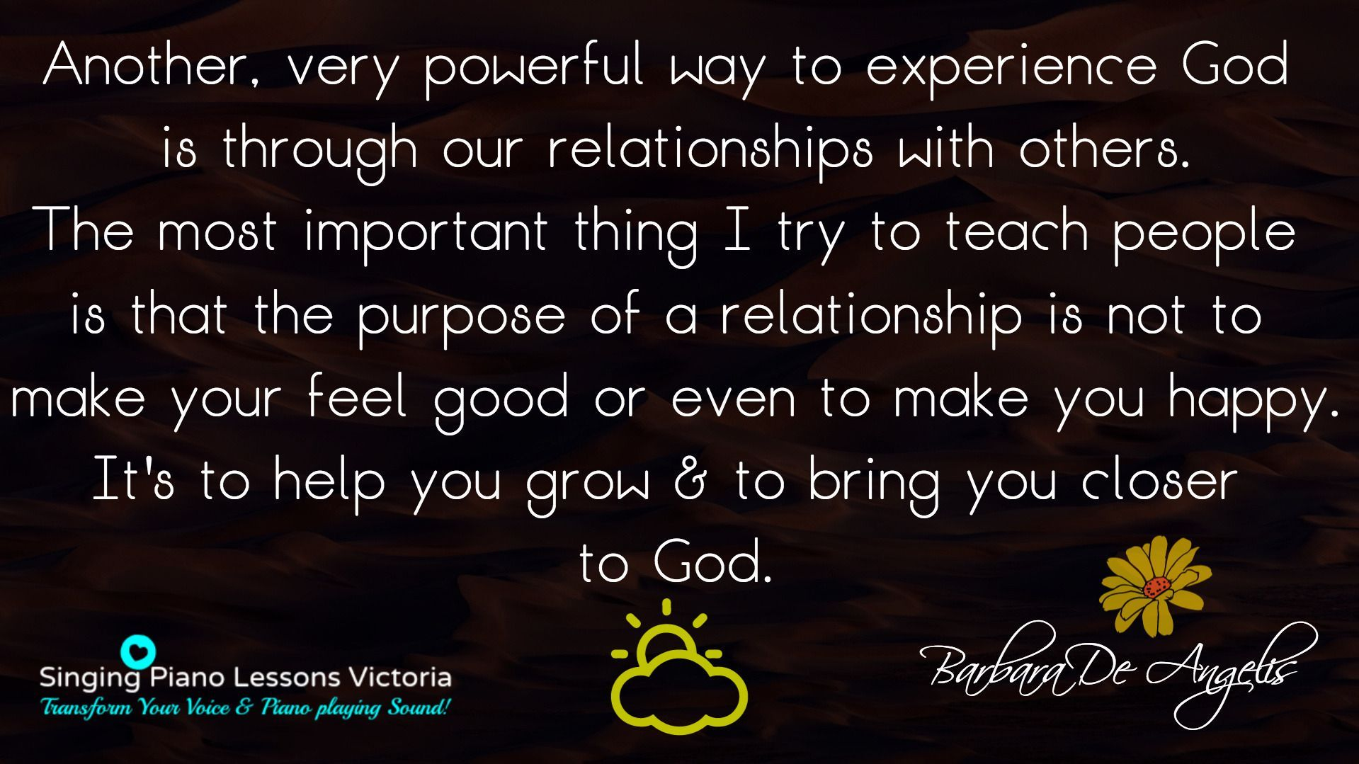 Another very powerful way to experience God  is . . .