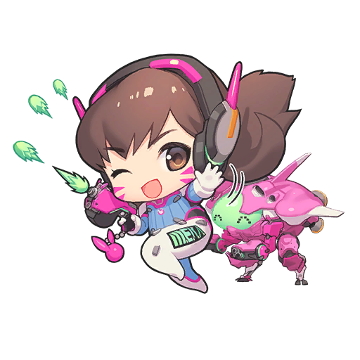 Ay Here S All The Sprays From The D Va Nano Cola Chibi Overwatch Overwatch Wallpapers Overwatch Funny