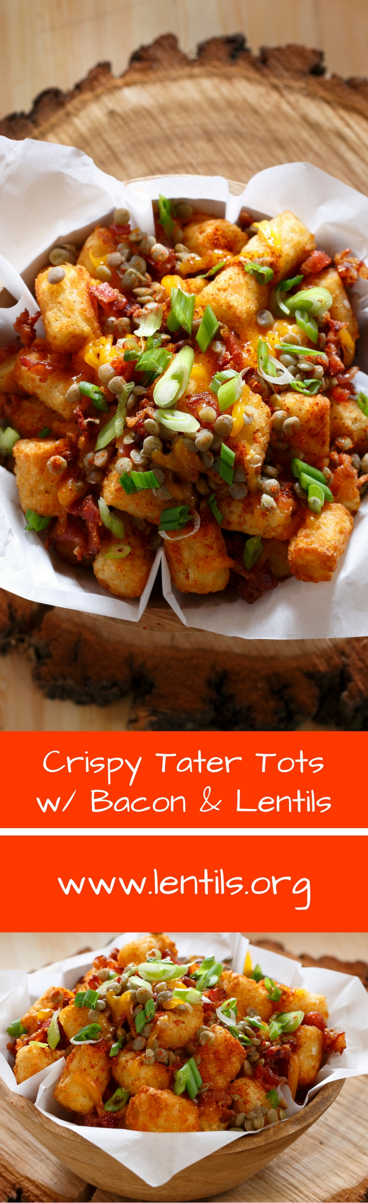 crispy tater tots with lentils  bacon  recipe