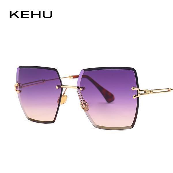 ef39b3e1d8 Kehu Ms Frameless Sunglasses Cat Eye Shape High Quality Uv400 K9602  11.99